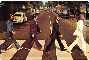 Beatles Abbey Road embossed metal sign  300mm x 200mm (na)
